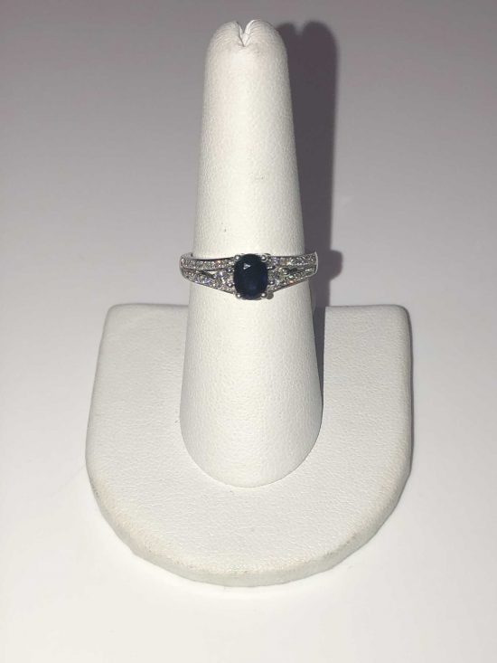14k White Gold Sapphire Diamond Ring. Original price: $1,045. Now on sale for $835!